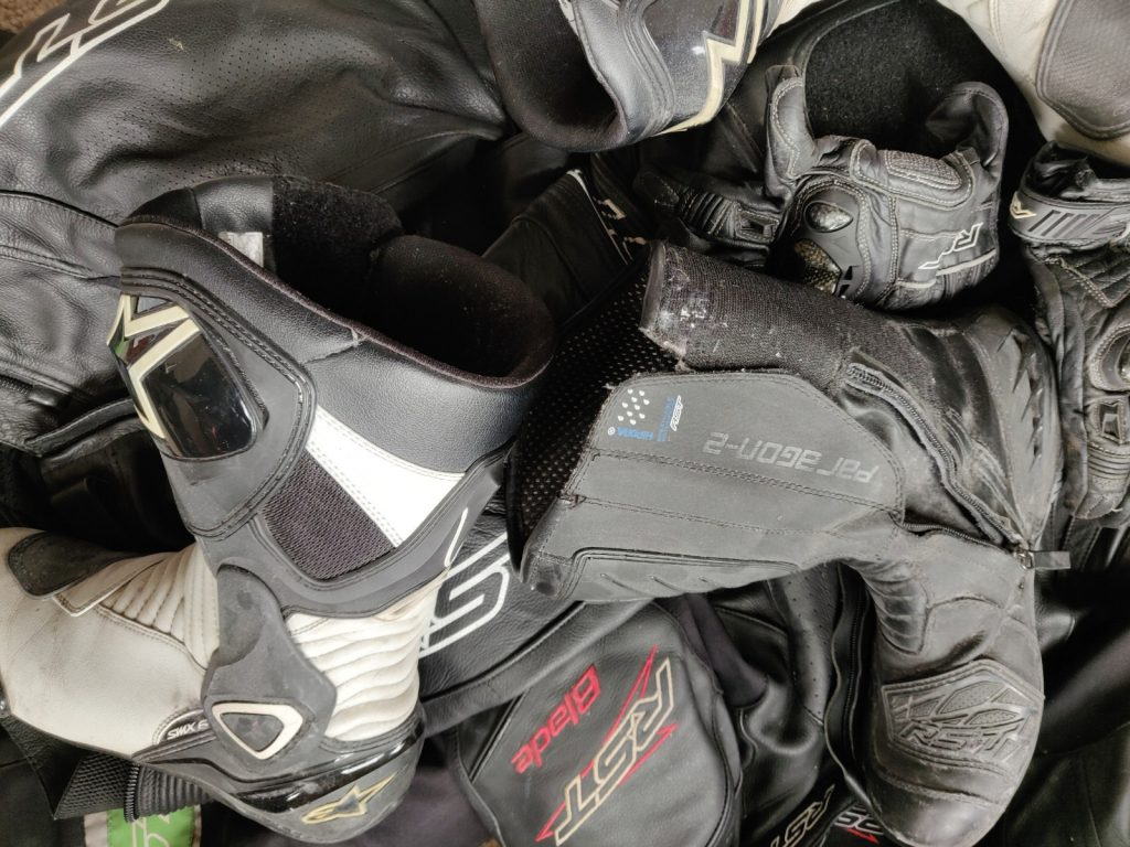 Artistic mess pretending to be motorcycle clobber!