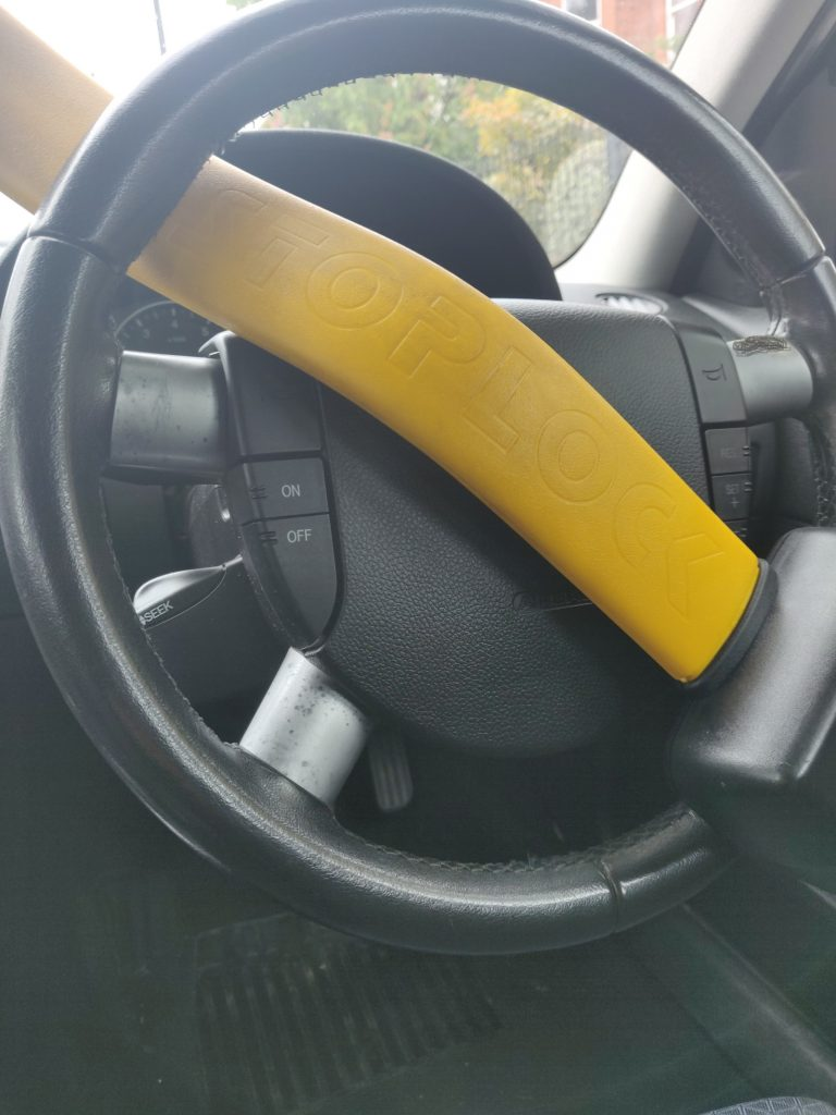 The humble steering lock has kept many a car safe
